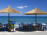 Beach Cafe  Kato Zakros  Lasithi Region  Crete  Greek Islands  Greece  Europe
