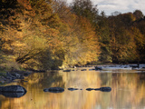 Beautiful Autumn Colours Reflecting in the River Creuse  a Favourite Area of the River of the Artis
