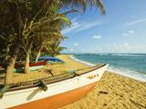 Fishing Boats at the East End of the South Coast Whale Watch Surf Beach at Mirissa  Near Matara  So