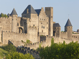 Evening Light on the Medieval City of La Cite  Carcassonne  UNESCO World Heritage Site  Languedoc-R