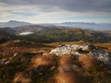 View Towards the Isle of Skye from Plockton Crags  Plockton  Ross Shire  Scotland  United Kingdom