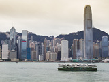 Star Ferry Crossing Victoria Harbour Towards Hong Kong Island  Two International Finance Centre Tow
