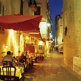 Evening Restaurant Scene in Haute Ville  Bonifacio  South Corsica  Corsica  France  Europe