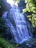 Eventail Waterfall  Cascades Du Herisson  Near Ilay  Jura  Franche Comte  France  Europe