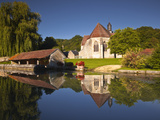 The Small Church of Saint Christophe in Cessy-Les-Bois  Burgundy  France  Europe
