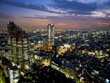 View from Tokyo Metropolitan Building  Shinjuku  Tokyo  Japan  Asia