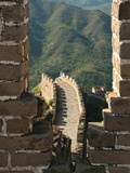 Watchtower View of Great Wall of China  UNESCO World Heritage Site  Huanghuacheng (Yellow Flower)