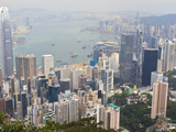 High View of the Hong Kong Island Skyline and Victoria Harbour from Victoria Peak  Hong Kong  China