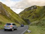 Cars Travelling Down Winnats Pass  Castleton  Peak District National Park  Derbyshire  England  Uni