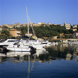 View over Harbour to the Old Town  Porto Vecchio  Corsica  France  Mediterranean  Europe