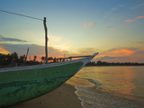 Outrigger Boat at Sunset at This Fishing Beach and Popular Tourist Surf Destination  Arugam Bay  Ea