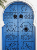 Door in Sidi Bou Said  Tunisia  North Africa  Africa