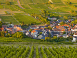 Looking Down onto a Village Near to Sancerre  Cher  Loire Valley  Centre  France  Europe