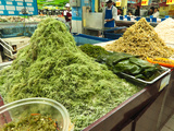 Kelp and Other Sea Products in a Local Grocery Store  Beijing  China  Asia