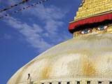 Man Praying in Front of the Dome of Boudha (Bodhnath) (Boudhanath) Stupa  Kathmandu  UNESCO World H
