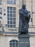 Martin Luther Statue in Dresden  Saxony  Germany  Europe