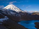 Mount Ngauruhoe and Upper Tama Lake  Tongariro National Park  UNESCO World Heritage Site  North Isl