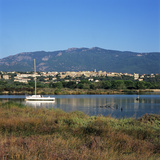View over to the Old Town  Porto Vecchio  South East Corsica  Corsica  France  Mediterranean  Europ