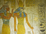 Bas-Relief Painted on the Walls of the Royal Tomb  Setnakht Tomb  Valley of the Kings  Thebes  UNES