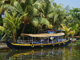 Boat for Tourists on the Backwaters  Allepey  Kerala  India  Asia