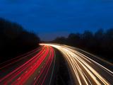 M6 Motorway at Dusk Near Juntion13  Staffordshire  England  United Kingdom  Europe