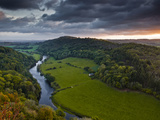The Breaking Dawn Sky and the River Wye from Symonds Yat Rock  Herefordshire  England  United Kingd