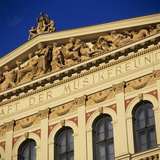 Exterior of Musikverein Concert Hall  Vienna  Austria  Europe