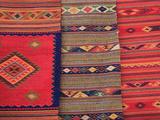Traditional Hand Woven Rugs  Oaxaca City  Oaxaca  Mexico  North America