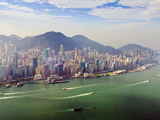 Cityscape of Hong Kong Island and Victoria Harbour  Hong Kong  China  Asia