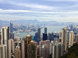 Hong Kong Cityscape Viewed from Victoria Peak  Hong Kong  China  Asia