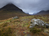 Low Cloud Hangs over Glencoe  Argyll  Scotland  United Kingdom  Europe