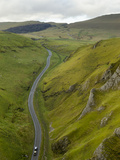 Cars Travelling Down Winnats Pass  Castleton  Peak District National Park  Derbyshire  England  Uni