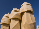 Casa Mila  UNESCO World Heritage Site  Barcelona  Catalonia  Spain  Europe