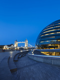 City Hall Building  Home of the Greater London Authority  Tower Bridge over the River Thames  Borou