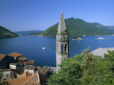 Church of St Nikola with Islet Monasteries of St George and Our Lady of the Lake  Perast  the Bok