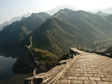 Great Wall of Chin  UNESCO World Heritage Site  Huanghua Cheng (Yellow Flower) with Jintang Lake in
