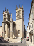 A View of Montpellier Cathedral  Montpellier  Languedoc-Roussillon  France  Europe