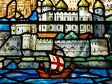 Detail from a Stained Glass Window in the Church of All Hallows by the Tower  the Oldest Church in