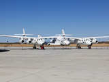 Virgin Galactic's White Knight 2 with Spaceship 2 on the Runway at the Virgin Galactic Gateway  Uph