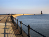 Roker Pier and Lighthouse  Sunderland  Tyne and Wear  England  United Kingdom  Europe