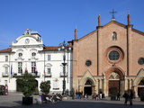 Town Hall and Collegiata in Piazza San Secondo  Asti  Piedmont  Italy  Europe