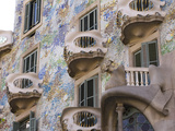 Facade of Casa Batlo  UNESCO World Heritage Site  Barcelona  Catalonia  Spain  Europe