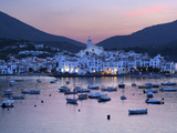 Harbour at Dusk  Cadaques  Costa Brava  Catalonia  Spain  Mediterranean  Europe