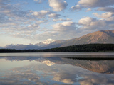 Mount Edith Cavell Reflected in Pyramid Lake  Early Morning  Jasper National Park  UNESCO World Her