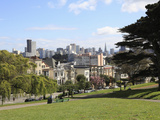 Skyline  Alamo Square  San Francisco  California  United States of America  North America
