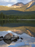 Perfect Reflection  Early Morning at Pyramid Lake  Jasper National Park  UNESCO World Heritage Site