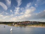 Alnmouth Village and the Aln Estuary from Church Hill on a Calm Late Summer's Evening  Alnmouth  Ne