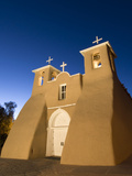 Old Mission of St Francis De Assisi  Built About 1710  Illuminated in the Late Evening  Ranchos De