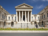 The Neoclassical Palais De Justice  Rue Foch  Montpellier  Languedoc-Roussillon  France  Europe
