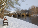 Bridge over the Wye River  Bakewell  Derbyshire  England  United Kingdom  Europe